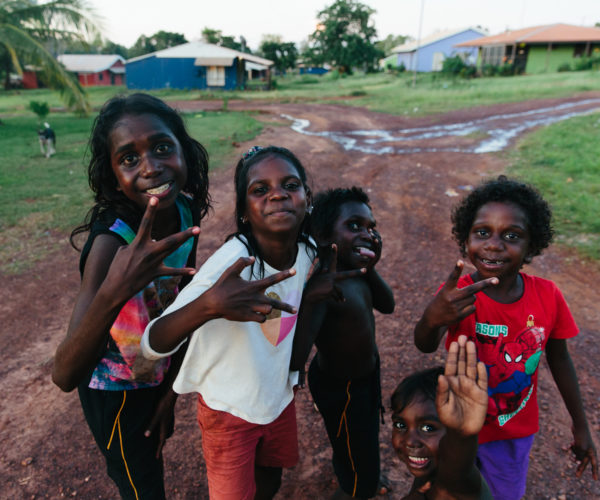 Wadeye - Children Happy